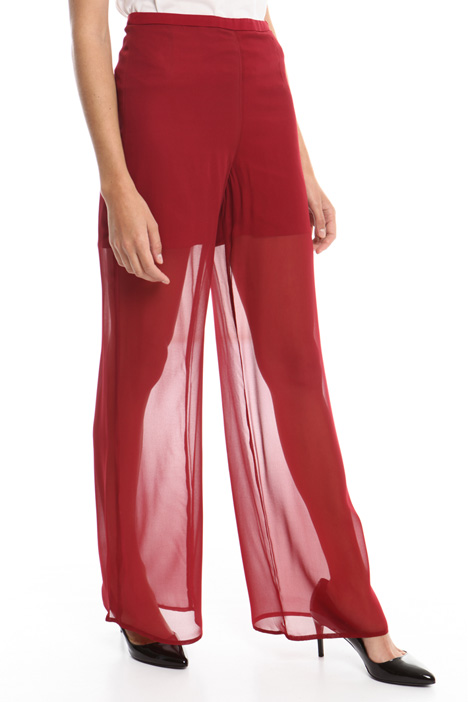 Wide georgette trousers Diffusione Tessile
