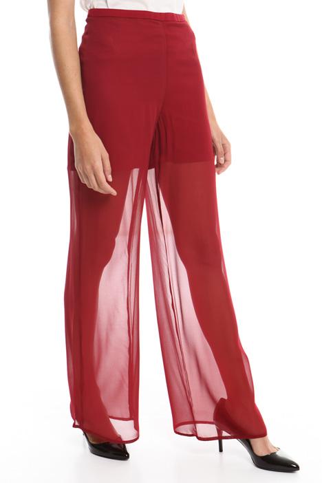 Pantalone ampio in georgette Diffusione Tessile
