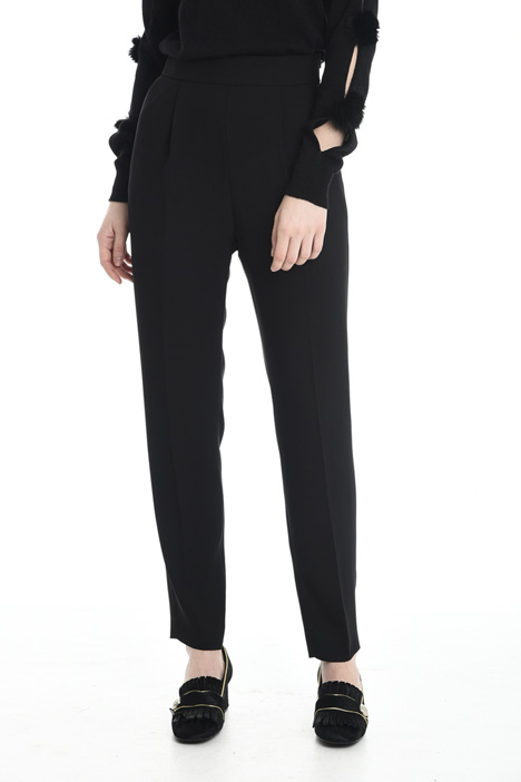 High waist cady trousers Diffusione Tessile
