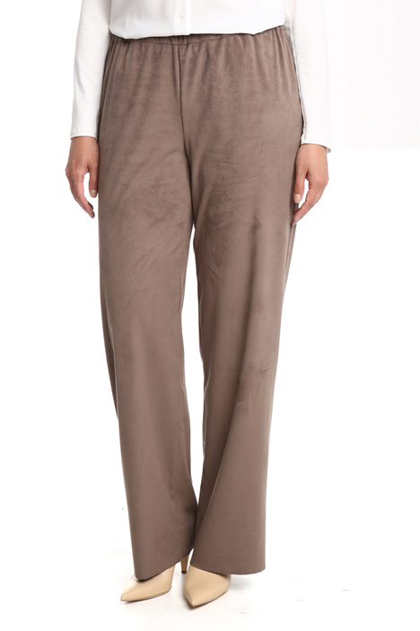 Suede-effect trousers Diffusione Tessile