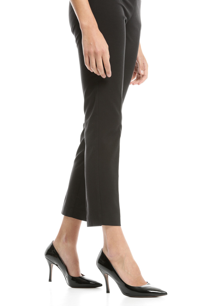 Pantaloni in faille stretch Diffusione Tessile