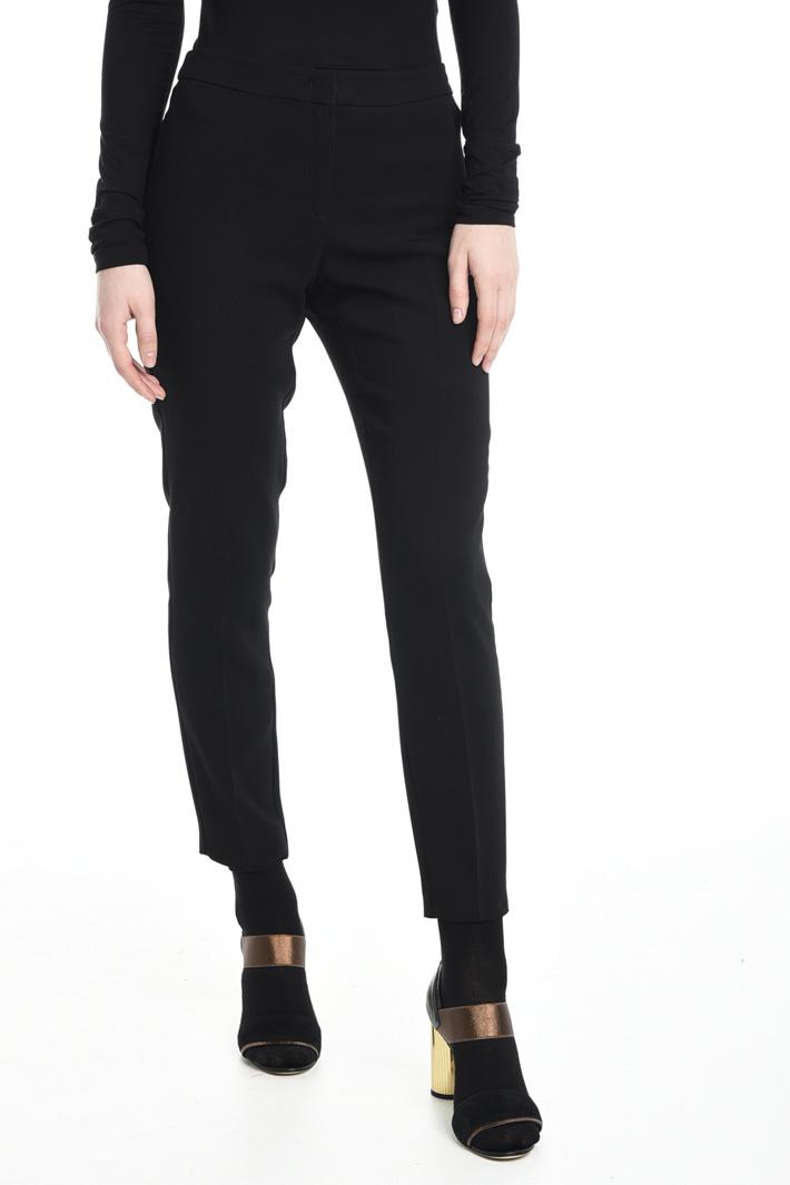 Pantalone a sigaretta in cady Diffusione Tessile