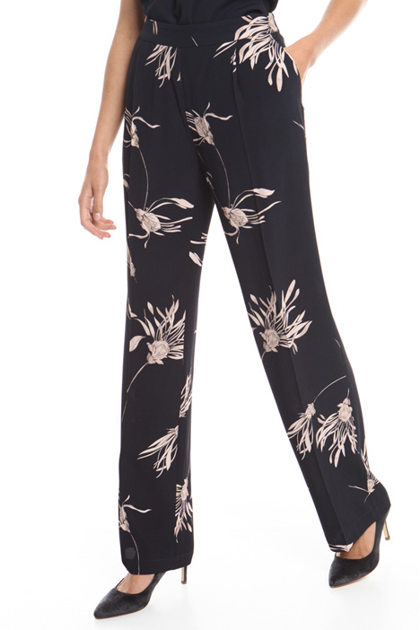 Printed crepe trousers Diffusione Tessile