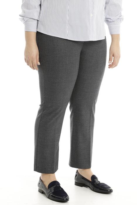 Straight-leg viscose trousers Diffusione Tessile