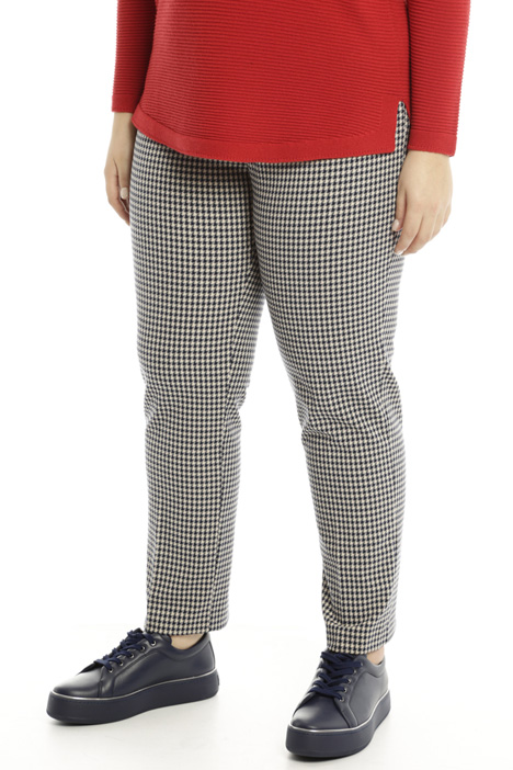 Fitted trousers with pattern Diffusione Tessile