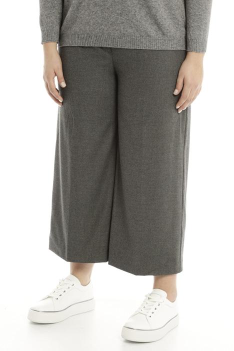Pantalone cropped in flanella Diffusione Tessile