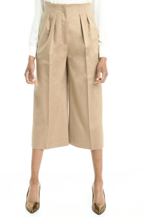 Pantalone cropped in drap Diffusione Tessile
