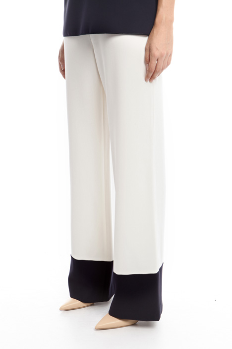 Two-tone cady trousers Diffusione Tessile