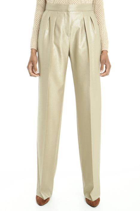 Pantalone metallizzato in lana Diffusione Tessile