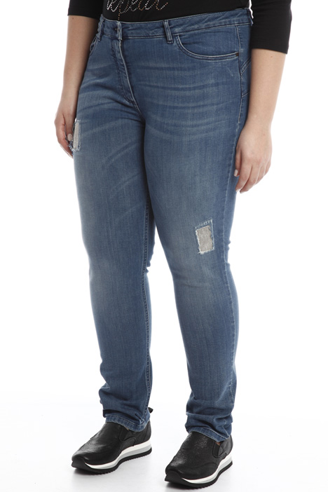 Jeans with embroidery Diffusione Tessile