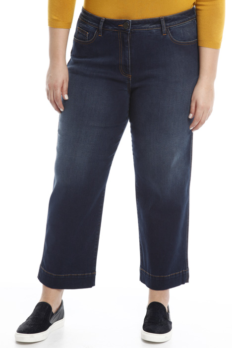 Cropped denim trousers Diffusione Tessile
