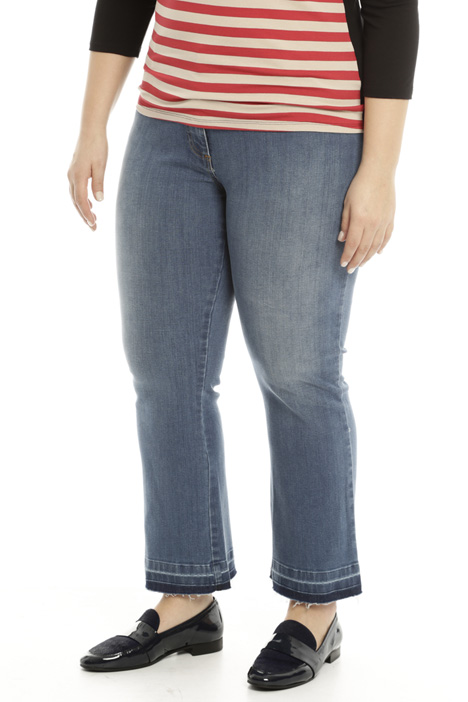 Fringed hem jeans Diffusione Tessile