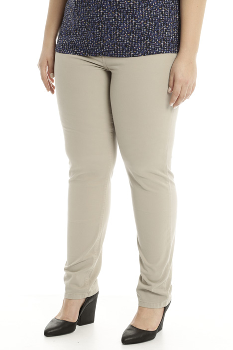 Shaping fit cotton trousers Intrend