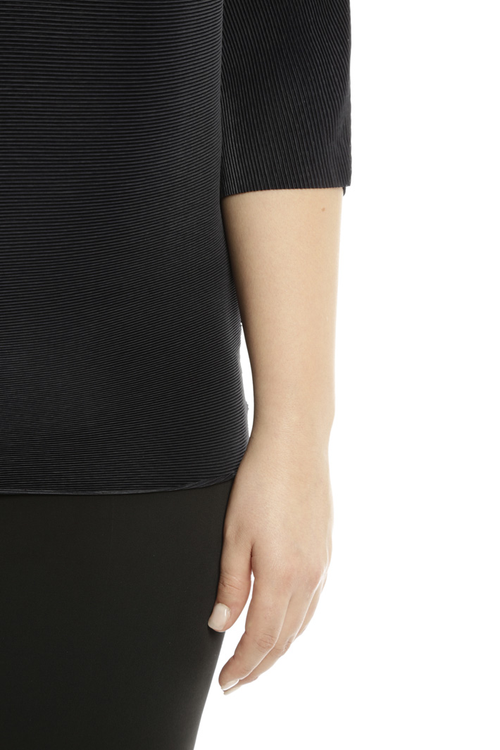 Casacca over in tessuto plissé Diffusione Tessile