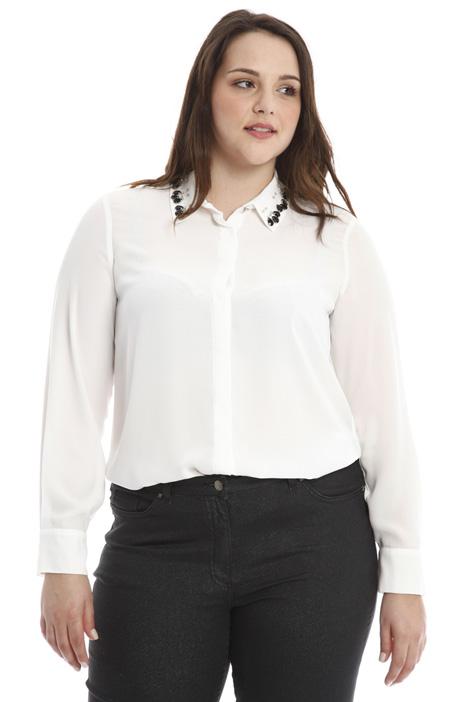 Camicia con ricamo gioiello Diffusione Tessile