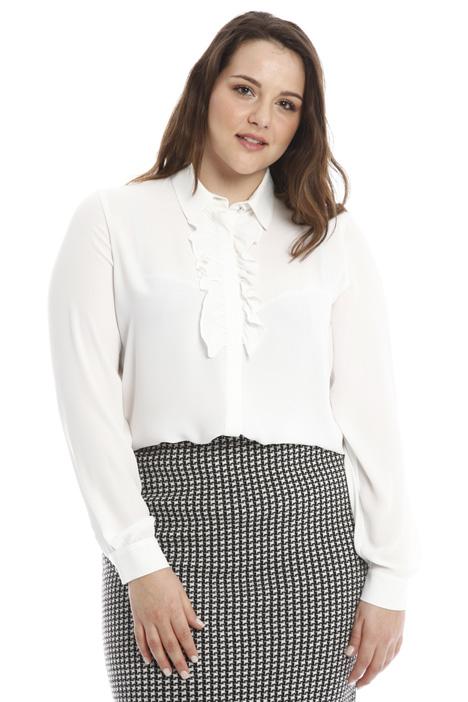 Camicia in crepe con jabot Diffusione Tessile