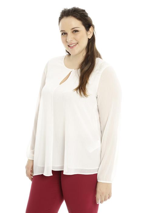 Blusa in creponne lurex Diffusione Tessile