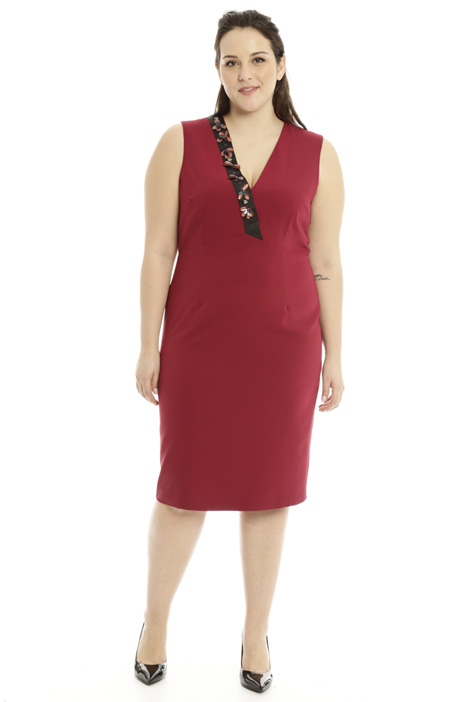 Jewel embroidered sheath dress Diffusione Tessile