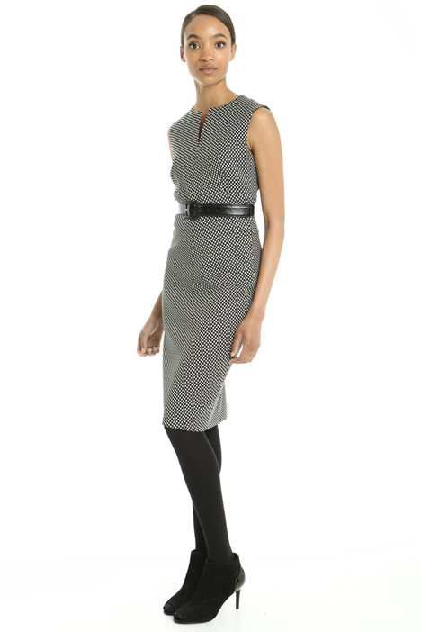 Jacquard wool sheath dress Intrend