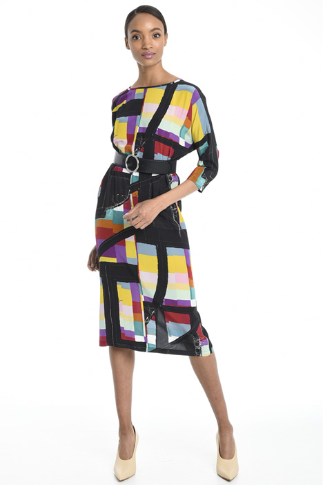 Multi-coloured silk dress Diffusione Tessile