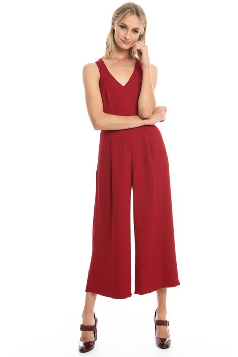 Cropped stretch cady jumpsuit Diffusione Tessile