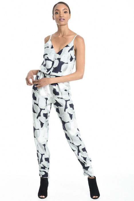 Printed silk twill jumpsuit Diffusione Tessile