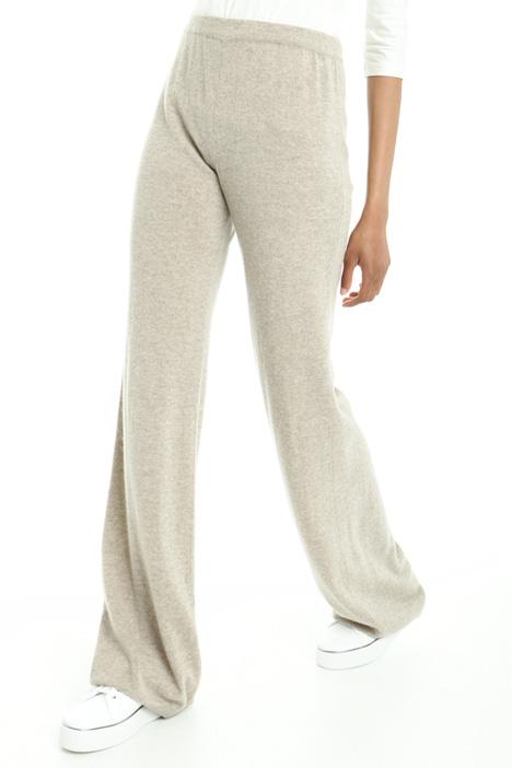 Pantaloni a zampa in cashmere Diffusione Tessile