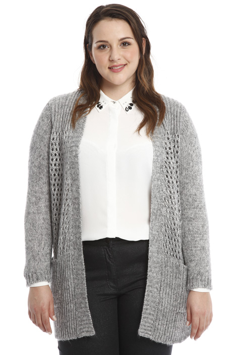 Long perforated cardigan Diffusione Tessile