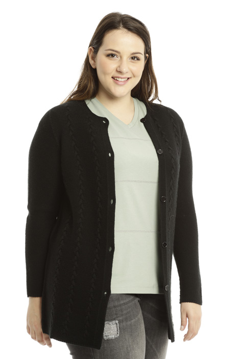 Braided knit cardigan Diffusione Tessile