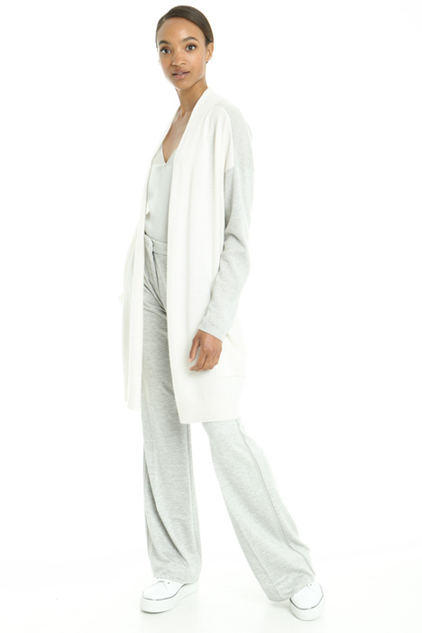 Two-tone cashmere cardigan Intrend