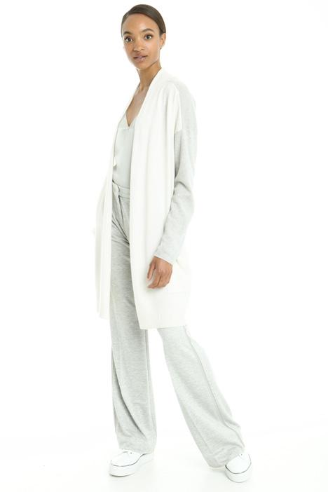 Cardigan in cashmere bicolore Diffusione Tessile