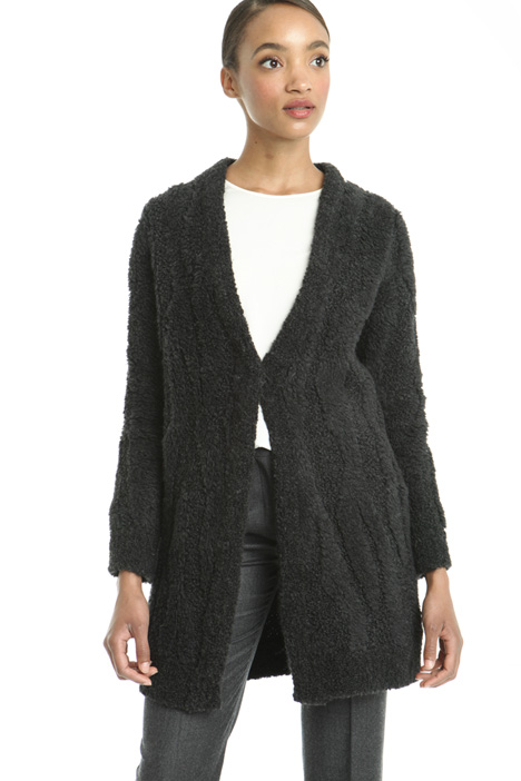 Teddy-bear effect cardigan Intrend