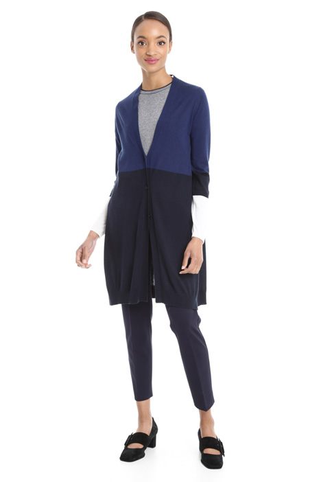 Long colour-block cardigan Diffusione Tessile