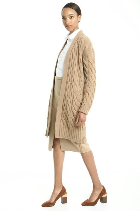 Braided knit cardigan Diffusione Tessile