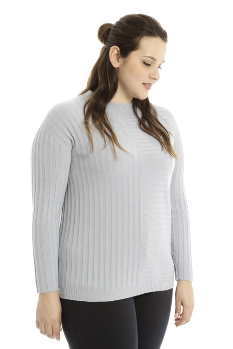 Ribbed viscose sweater Diffusione Tessile