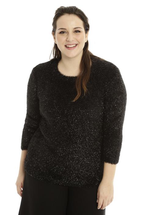 Fur-effect lurex sweater Diffusione Tessile