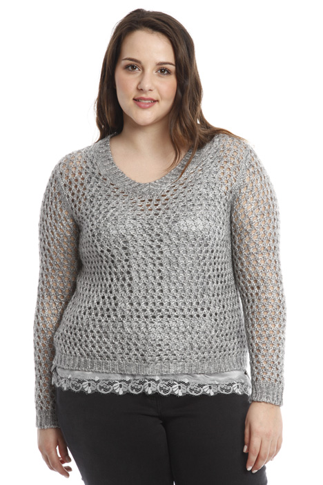 Open-knit wool sweater Diffusione Tessile