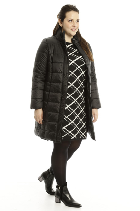Long high neck padded coat Diffusione Tessile