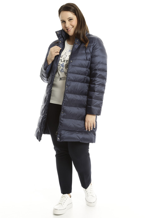 High neck down coat Diffusione Tessile