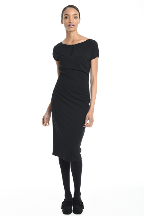 Fitted viscose dress Intrend