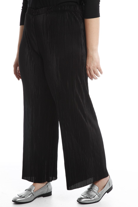 Glossy plissé trousers Diffusione Tessile