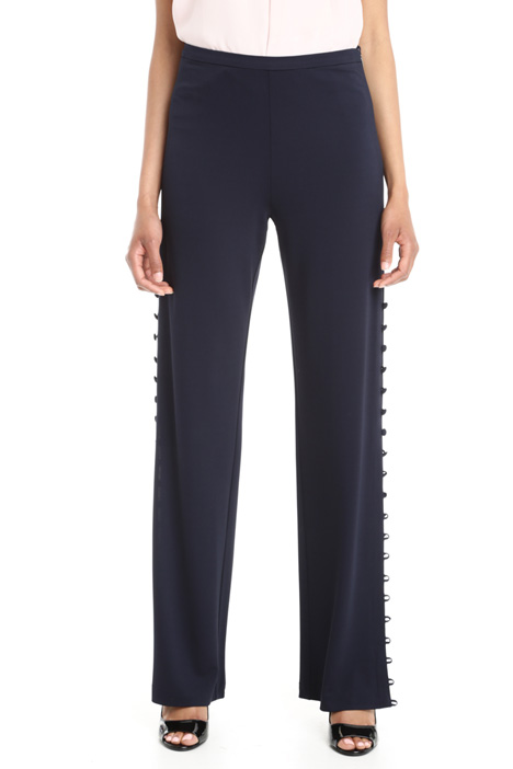 Pantaloni con bottoni laterali Diffusione Tessile