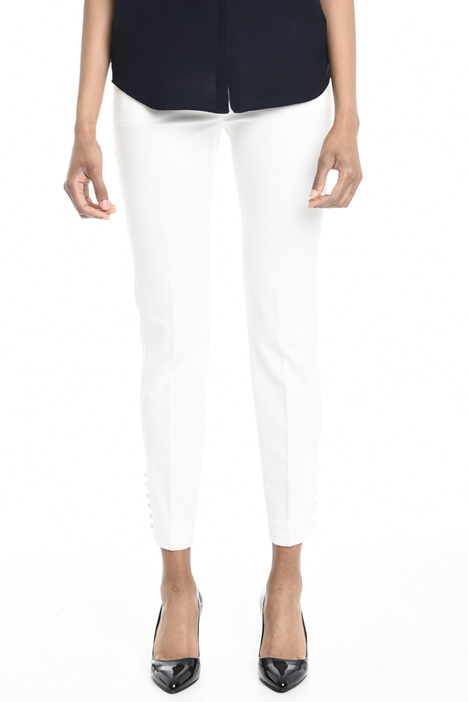 Pantalone con bottoni al fondo Diffusione Tessile