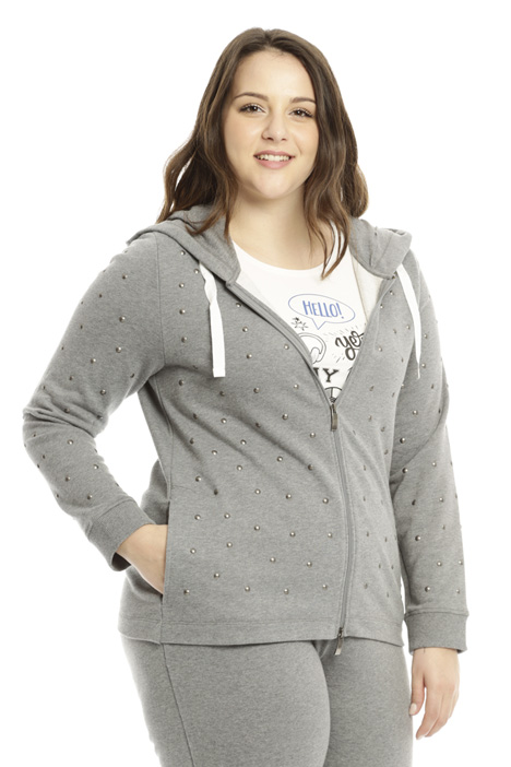 Cotton sweatshirt with studs Diffusione Tessile