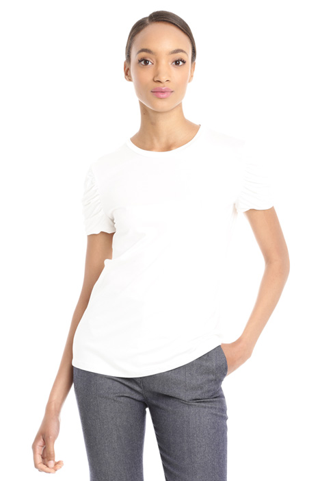 Top with gathered sleeves Diffusione Tessile