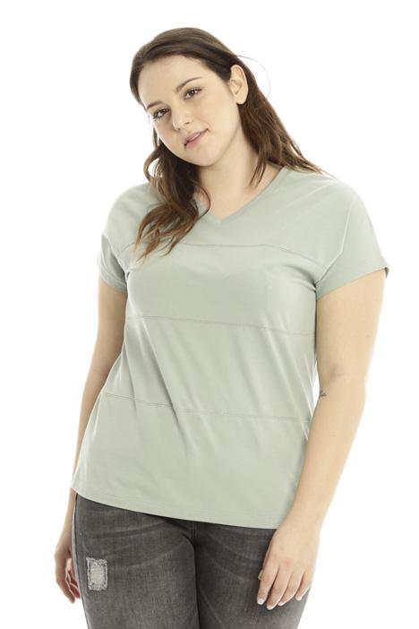 T-shirt con ricamo gioiello Diffusione Tessile