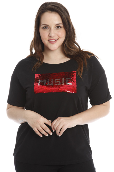 T-shirt with Sequin embroidery Diffusione Tessile