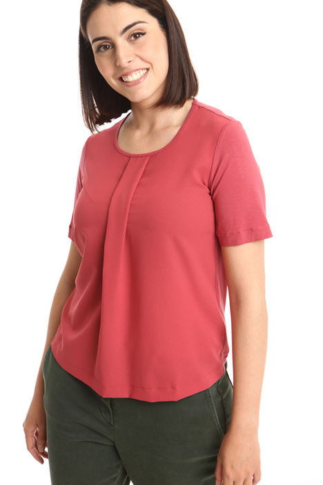 Central pleat T-shirt Diffusione Tessile