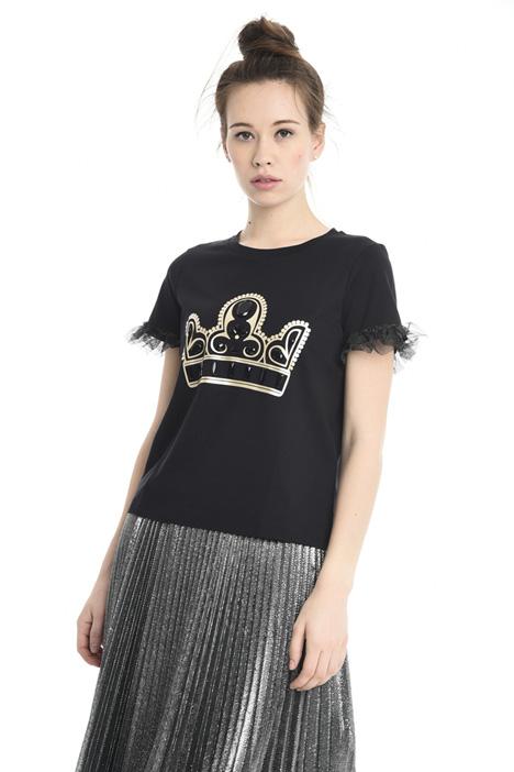 T-shirt con maxi strass Diffusione Tessile