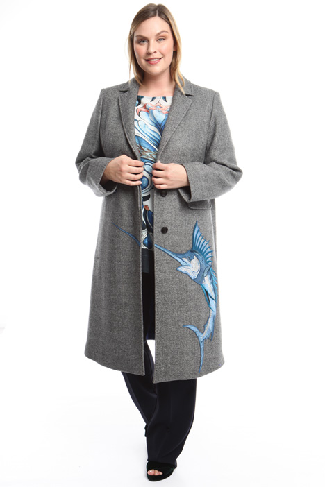 Embroidered patch coat Diffusione Tessile